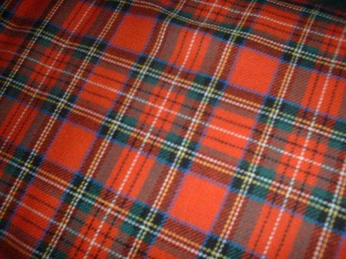 Royal Stewart–100% Gebürstete Baumwolle Weich Tartan Stoff–150cm (149,9cm) breit, Meterware,