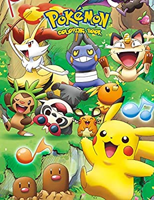 Pokemon Coloring Book: Coloring Book for Kids and Adults de Independently published