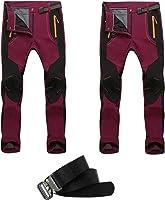 YiLianDa Pantaloni Funzionali Softshell Invernali da Uomo Slim Fit Impermeabili e Traspiranti per Trekking e Sport...