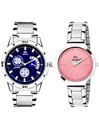 ADAMO Designer Analog Multi-Colour Dial Unisex Watch - 108-816SM06