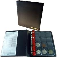 Álbum de monedas para 120 monedas (tipo M Álbum). 10 hojas con 120 compartimentos 46mm X 50mm.