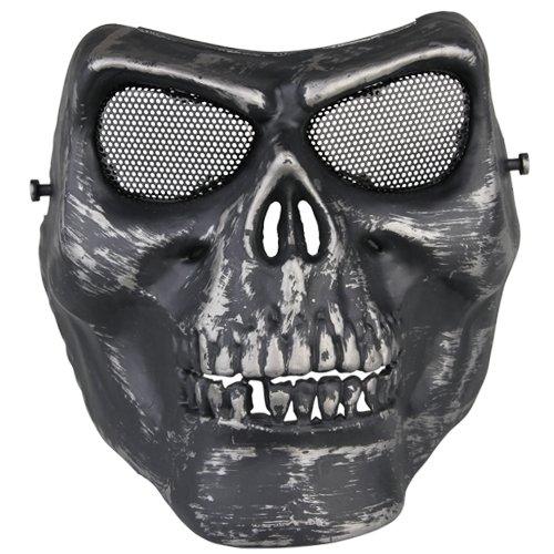 fitTek® Softair Maske Totenkopf Sch?del Vollschutzmaske Schwarz [Misc.] zu emall supply