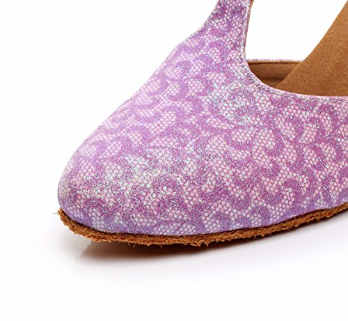 misterioso da donna Latin Dance scarpe con suola morbida femmina latina sandali da ballo scarpe Pink