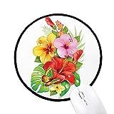 DIYthinker Bouquet de fleurs papillon meilleur souhait ronde ANTIDÉRAPANTS Tapis de...
