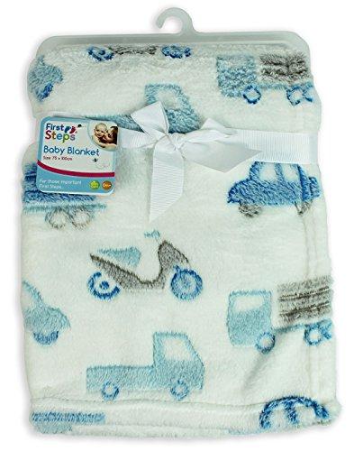 Preisvergleich Produktbild First Steps Weiche Babydecke, Vlies, für Neugeborene, inklusive Lätzchen, 75x100cm