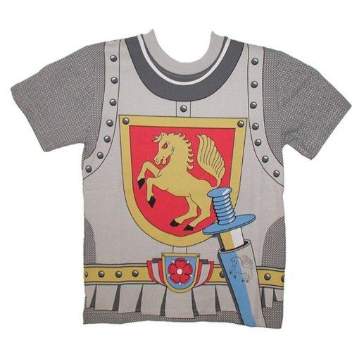 Kid's Shirt Ritter T-Shirt Pferd grau, Größe 116 (Childs Kostüme Pferd)