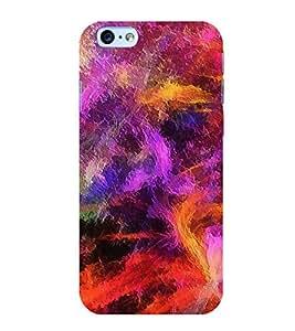 Multicolour Pattern 3D Hard Polycarbonate Designer Back Case Cover for Apple iPhone 6S