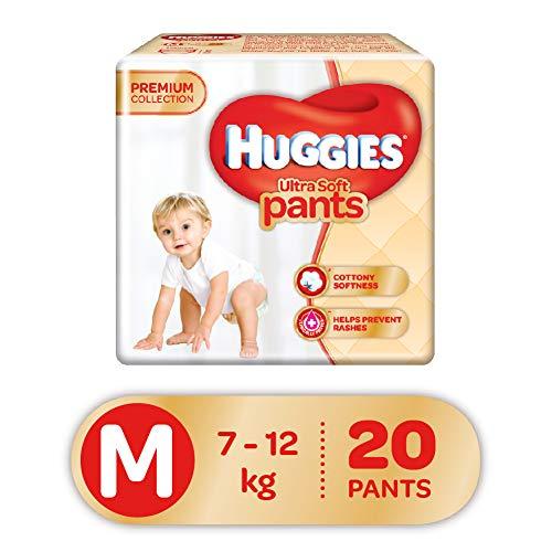 Huggies Ultra Soft Pants Diapers, Medium (Pack of 20)