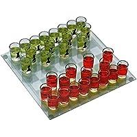 Jeu d'échec à boire 1 plateau en verre, 32 verres pions shooters