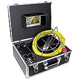 Cámara de inspección de tuberías, Drenaje Alcantarilla endoscopio Industrial HBUDS PIC20 Impermeable IP68 Serpiente Sistema de Video con 7 Pulgadas Monitor de Cristal 1000TVL Sony CCD cámara