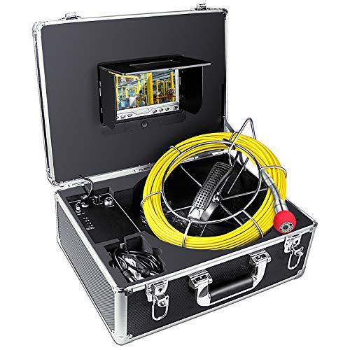 Rohr Inspektionskamera 20 Meter Abwasserkanal Industrie Endoskop Kanalinspektion Kamera Pipeline Ablauf Inspektionkamera Schlangen Video Inspektions System Wasserdichtes mit 7