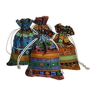 Mqigo Sacchettini regalo di stoffa in set da 25 pezzi, dimensioni: 10 x 14 cm, ideali come sacchettini per matrimoni o porta-gioiello