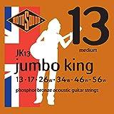 Rotosound Jumbo King Jeu de cordes pour guitare folk Bronze phosphoreux Tirant medium (13 17 26 34 46 56) (Import Royaume Uni)
