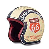 Retro Chopper Route Motorradhelm Harley 3/4 Open Face Vintage Helm Route 66 M