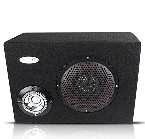 QXXZ 6 Zoll 12V / 220V Auto Audio HiFi Aktive Lautsprecher Fernbedienung, KTV Boom Box Bühne Square Lautsprecher Subwoofer