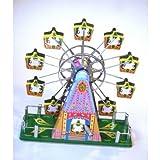 Riesenrad Blech mit Spieluhr Blechspielzeug Aufziehen