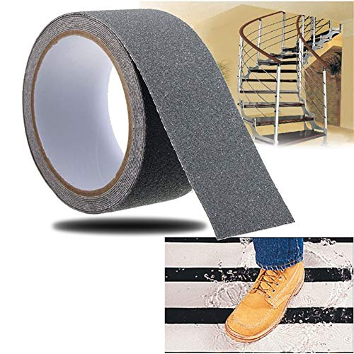 Antirutsch Klebeband- 10 CM x 5 M - am besten Grip, bereifte Oberfläche für Treppen Schritt verhindert Verrutschen,Gray - Am Besten 10