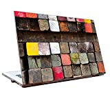 Tamatina Laptop skins 15.6 inch - Wood Blocks - Wooden - Colorful - Hd Quality - Dell-Lenovo-HP-Acer