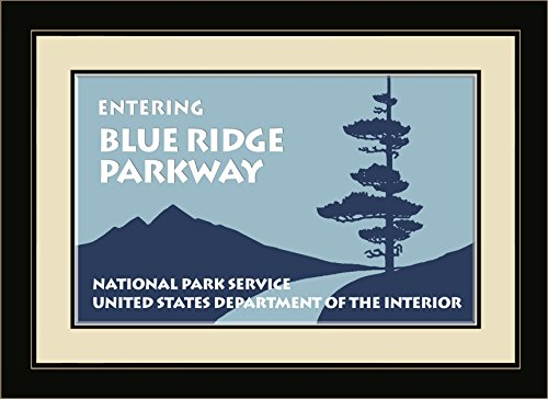 Northwest Art Mall nw-5527fgdm Blue Ridge Parkway Entry Sign Gerahmter Art Wand, 40,6x 55,9cm