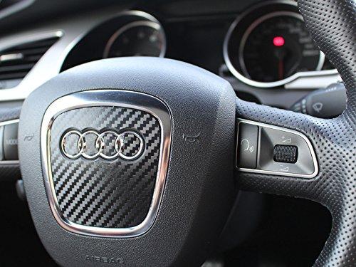 Audi - Mascherina adesiva per volante, al carbonio, A3 A4 A5 B8 S5 A6 A7 A8 Q5 Q7 S4