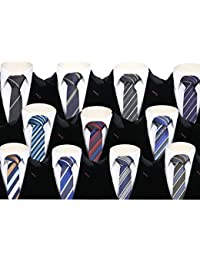 SIRRI - Kids Formal Satin Necktie For Children Striped Skinny Wedding Ties Boys - 3 to