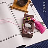 NING234 / Chino clásico viento / regalo / natural jade blanco artesanal / / borla / marcador,Jiangfeng Yuhuo