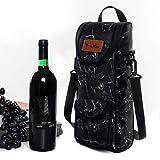 winmax Sac Isotherme Porte-Bouteilles, Support pour Bouteille de vin/Champagne Isotherme de Transport Sac avec poignée de Transport et bandoulière - Idéal pour Les Voyages ou Un Pique-Nique