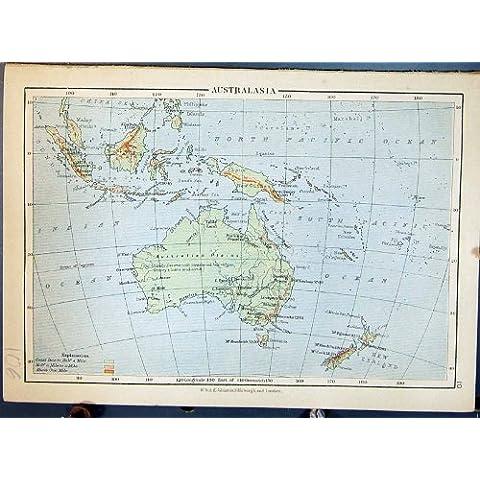 Isole Britanniche Orkney Scozia dell'Australasia Australia della Mappa dell'Oggetto D'antiquariato
