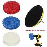Dasongff Drill Brush Kit Austauschbare Scrub FüR Die Reinigung Cleaning Scouring Pads Non-Scratch Nylon Scrub Pads for Bathroom Kitchen x1