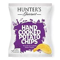 Hunter's Gourmet Hand Cooked Potato Chips Sea Salt & Crushed Black Pepper - 125gm