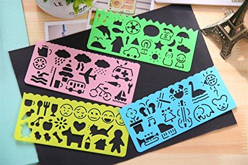 RFGTYBDD Gewidmet 4 stücke Cartoon DIY Kinder Schaffung Zeichnung Malerei Schablonen Skala Vorlage Sets