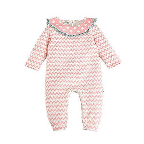 Bebone Mädchen Strampler baby Overall Neugeborenen Kleidung (9-12 Monate, Rosa)