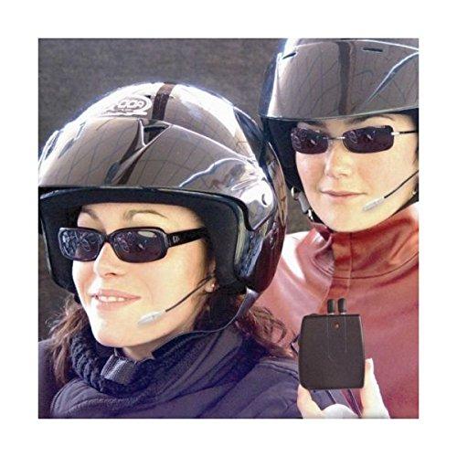 Interfono moto per casco coppia auricolari microfono aux mp3 volume doppio