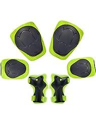 Kinder Knieschoner Set 6 in 1 Schutzausrüstung Kinder Knieschützer Ellbogenschützer Set Schutzausrüstung Set für Skateboard Radfahren Roller Skating Radfahren