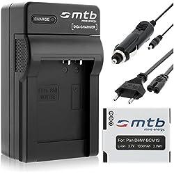 Chargeur + Batterie DMW-BCM13 pour Panasonic Lumix DMC-FT5, TZ40, TZ41, TS5, ZS30