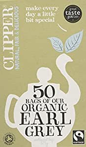 Clipper Fairtrade Organic Speciality Earl Grey 50 Teabags (Pack of 6, Total 300 Teabags)