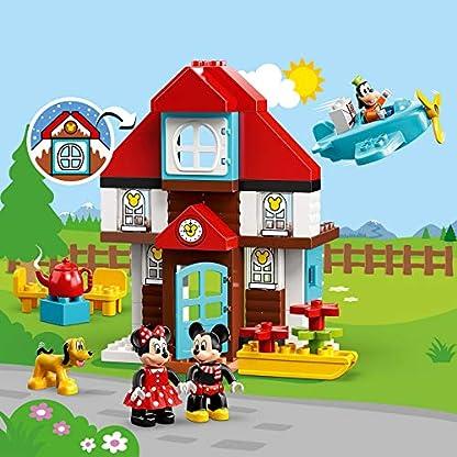 LEGO DUPLO Disney – Casa de Vacaciones de Mickey Nuevo juguete de construcción con los Personajes de Disney, incluye Minifigura de Minnie, el Pato Donald, Goofy y Pluto (10889)