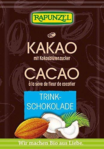 Feelino 1x 400ml XL doppelwandiges Thermoglas + 1x hochwertiger Rapunzel BIO – Trinkschokolade mit hohem 30% Kakaoanteil, Kokosblütenzucker, Meersalz und mit natürlichem Bourbon Vanille / doppelwandiges Thermo Glas mit Schwebe-Effekt - 3