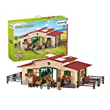 Schleich 42195 - Paardenstal met paarden en accessoires