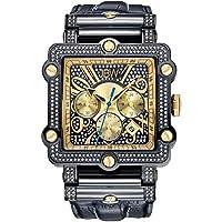 ساعة فانتوم 238 لوكسوري الماس كرونوغراف من جيه بي دبليو أسود/ذهبي