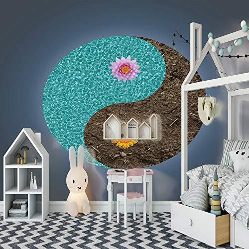 Preisvergleich Produktbild 3D Fototapete Tai Chi Wandbild Leinwand Aufkleber Premium Art Decor Dekor Bild Moderne Home Design Dekoration, 150cm(W) x105cm(H)-3 Streifen