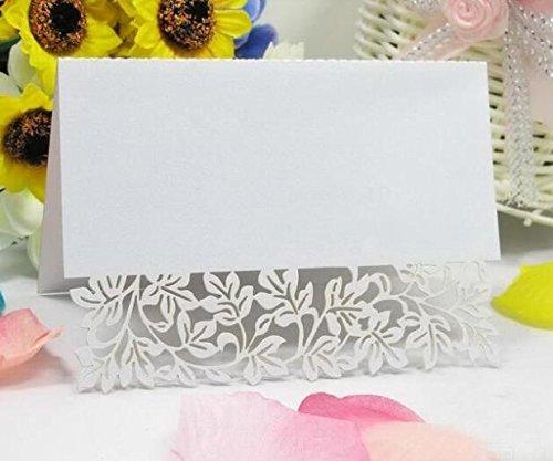 Joinwin 50Großhandel von Laser Geschnitten Hochzeit Deko Name Karte Tisch Papier Vine Sitz Karten für Party Favor (Großhandel Party Favors)