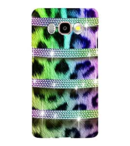 horzontal stripped multicoloured pattern 3D Hard Polycarbonate Designer Back Case Cover for Samsung Galaxy J5 (2016) :: Samsung Galaxy J510F :: Samsung Galaxy J5 (2016) Duos with dual-SIM card slots