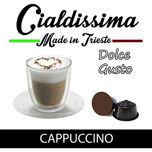 Find Cialdissima Dolce Gusto Cappuccino, compatible capsules (Total 100 Capsules, 50 Servings) - Cialdissima Dolce Gusto Cappuccino