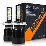 Aolead Lampadine H4 LED 10000LM Super luminoso Sostituzione Lampade per Alogena e Xenon Luci, 50W 6000K 2 lampade