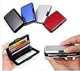Equilibre et Aventure Porte carte de crédit en aluminium compact - Rangement + anti piratage et protection des bonnées bancaires