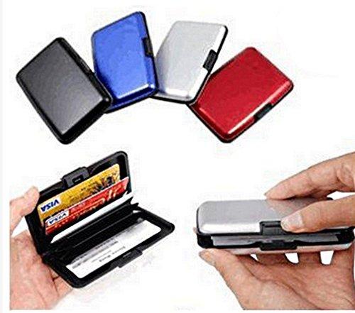 Porte Carte de crédit en Aluminium Compact - Rangement + Anti piratage et Protection des bonnées bancaires