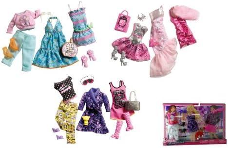 Mattel - W3167 - Accessoire Accessoire pour pour pour Poupée - Barbie - Habillage Tendance - 3 Tenues - Robe Rose Imprimé/Ensemble Robe Haut Boléro Rose/Ensemble Jupe en Jean Haut Blanc B005PTXMXI 9eb613