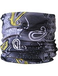Multifunctional Headwear Grey & Yellow Paisley
