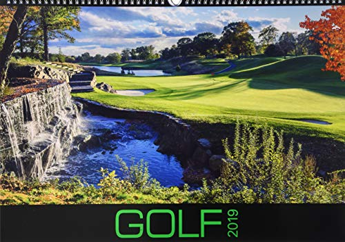 Golf 2019 - Sportkalender - internationaler Golfkalender (49 x 34) - Wandkalender